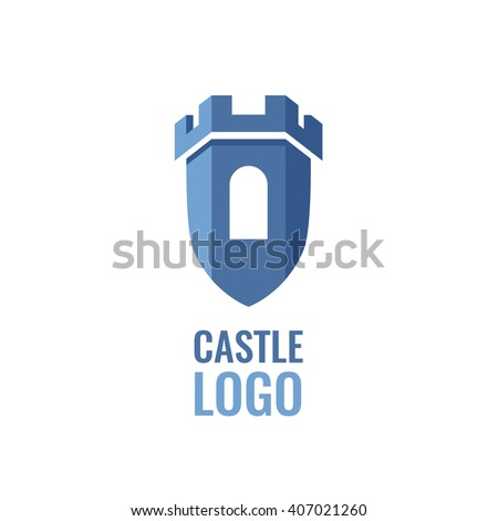Castle, fortress vector logo. Tower architecture icon.  Logo for your business. stock photo