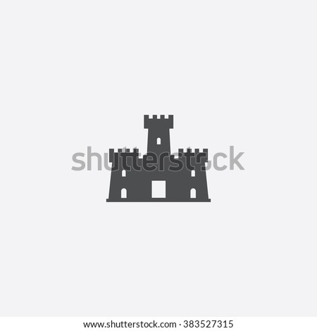 castle icon castle icon vector