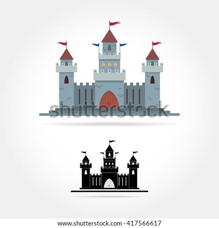 castle icon castle icon vector