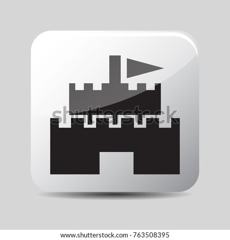 Stock Photo castle icon 3d, for Internet icon and application icon. Vector eps 10.
