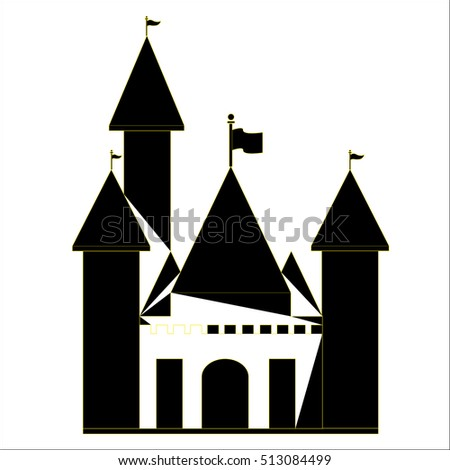 castle icon in imagination on a