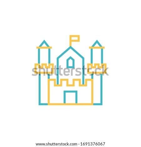 castle icon vector illustration