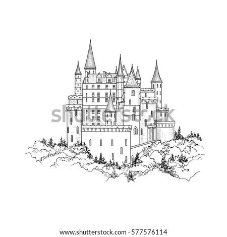 castle landmark sketch