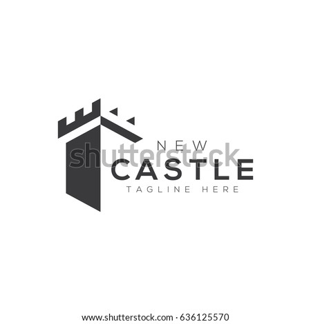 Castle logo stock photo