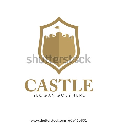 castle logo  icon  and