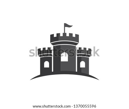 castle logo template  icon