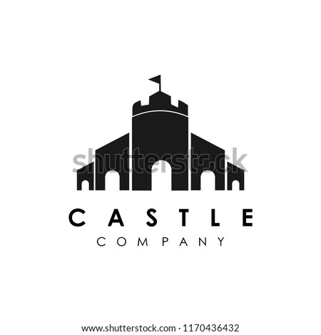 castle logo vector stock photo