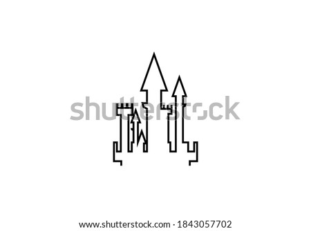 castle logo vector design icon