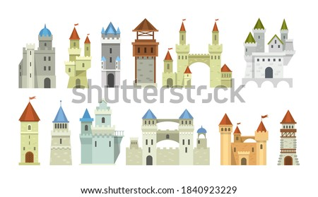castle medieval tower set the
