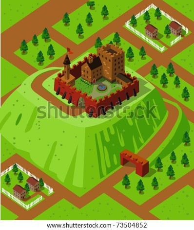 castle on a countryside hill