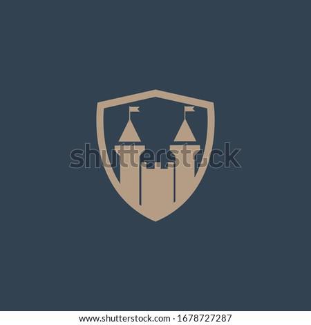castle shield logo design