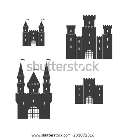 castle silhouette isolated on