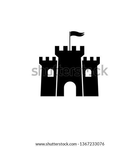 castle tower icon  logo