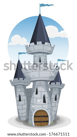 castle tower  illustration of a