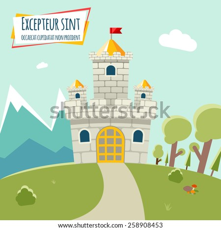 castle with a high tower and