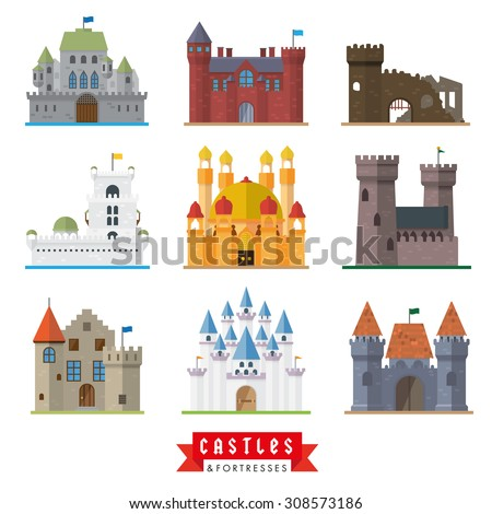 castles and fortresses vector