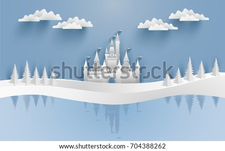 castles and snow in the winter
