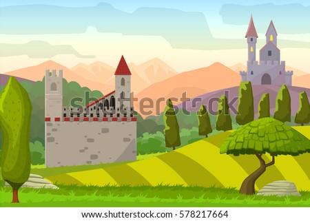castles on hills medieval