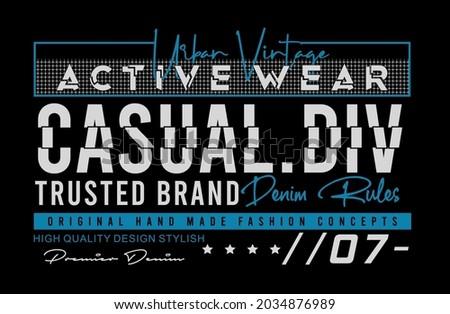 Casual div urban vintage active wear vector illustration Photo stock ©
