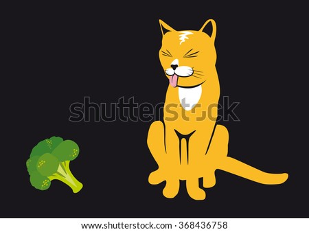 cat and broccoli  never more