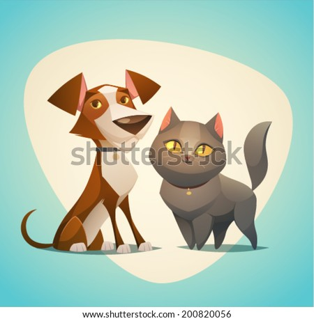 cat and dog characters cartoon