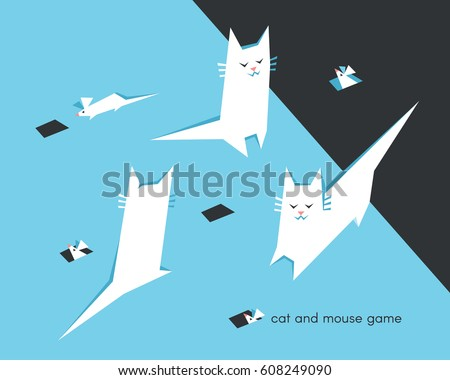 cat and mouse game funny white