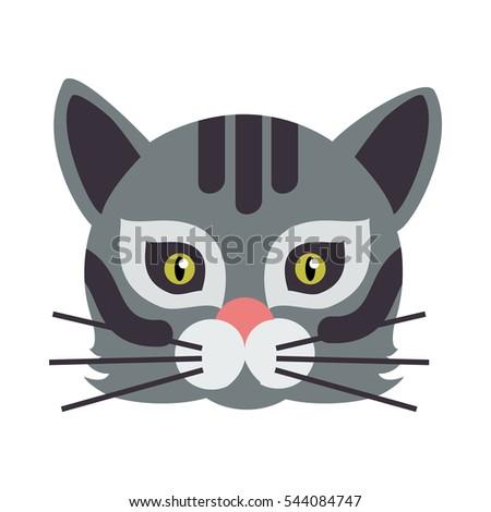 cat animal carnival mask vector