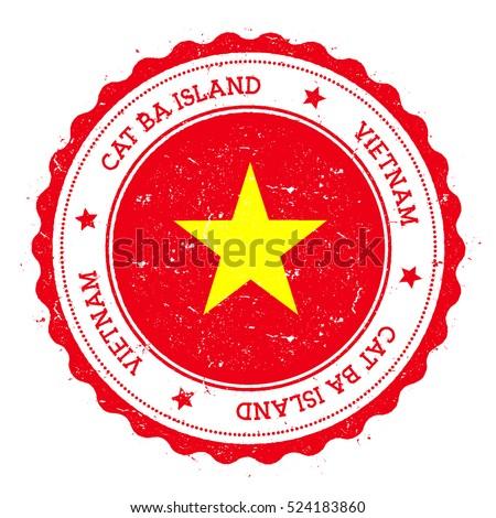 cat ba island flag badge