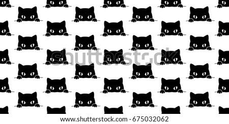 cat black cat kitten seamless