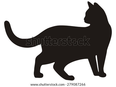 cat  black silhouette  vector