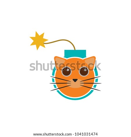 cat bomb logo icon design