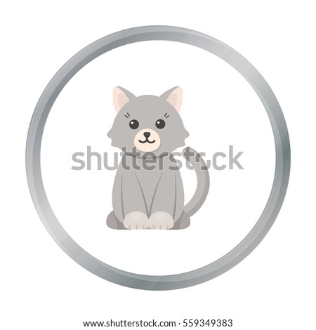 cat cartoon icon illustration