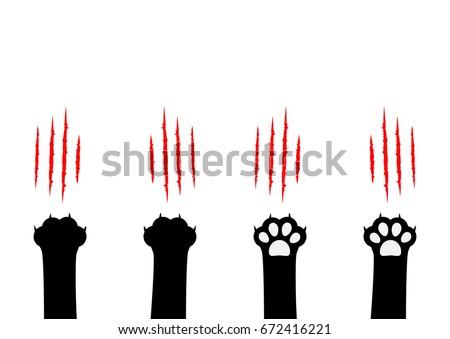cat claw scratching set black
