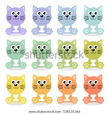 Cat : Cute Animal : Vector Illustration
