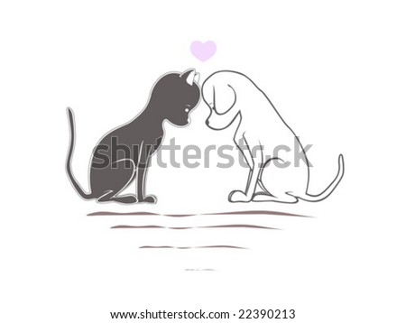 Cat & Dog in love