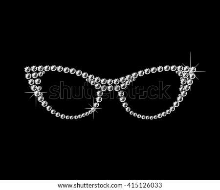 cat eye retro glasses made of...