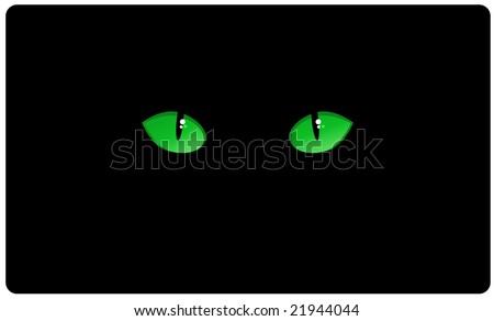 cat eyes in the dark. stock vector : cat eyes in the dark