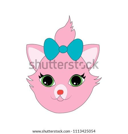 cat face close up head sticker