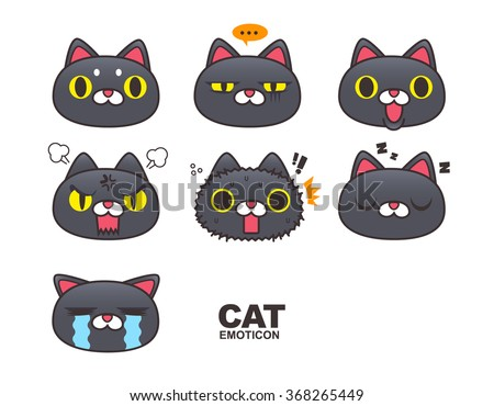 cat face emoticon isolated