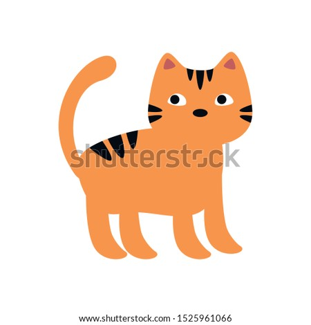 cat feline animal of halloween vector illustration design