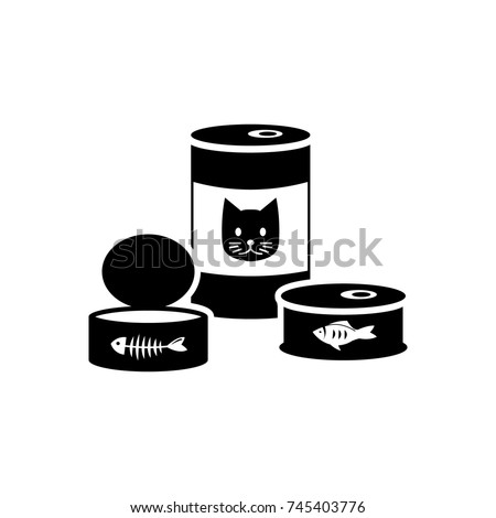 cat food can and container