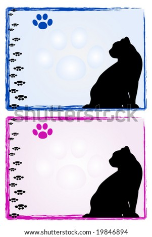 cat frames male and female model pet illustration scrapbook useful