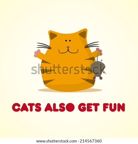 cat have fun with a mouse