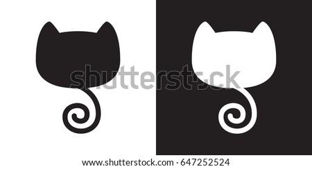 cat head cat tail illustration