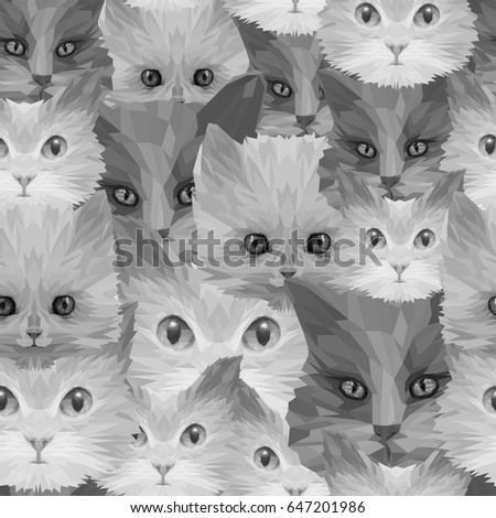 cat head collection  seamless