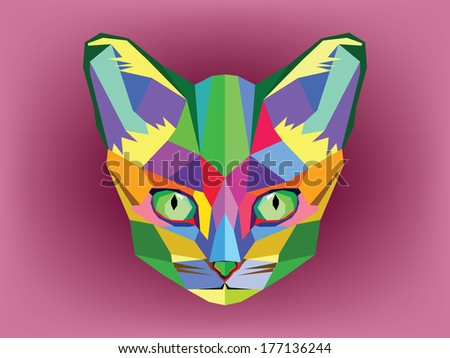 Geometric Cat Head Cat Head Geometric Style