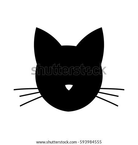 cat head shape icon vector