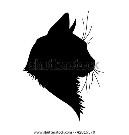 cat head silhouette vector