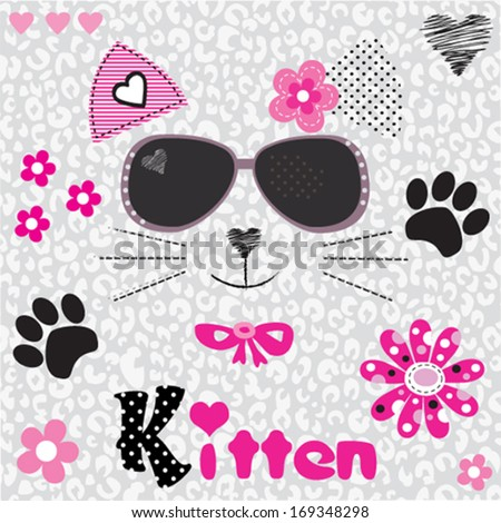 Shutterstock cat head vector illustration