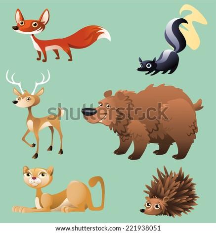 cat  hedgehog  elk  deer  skunk
